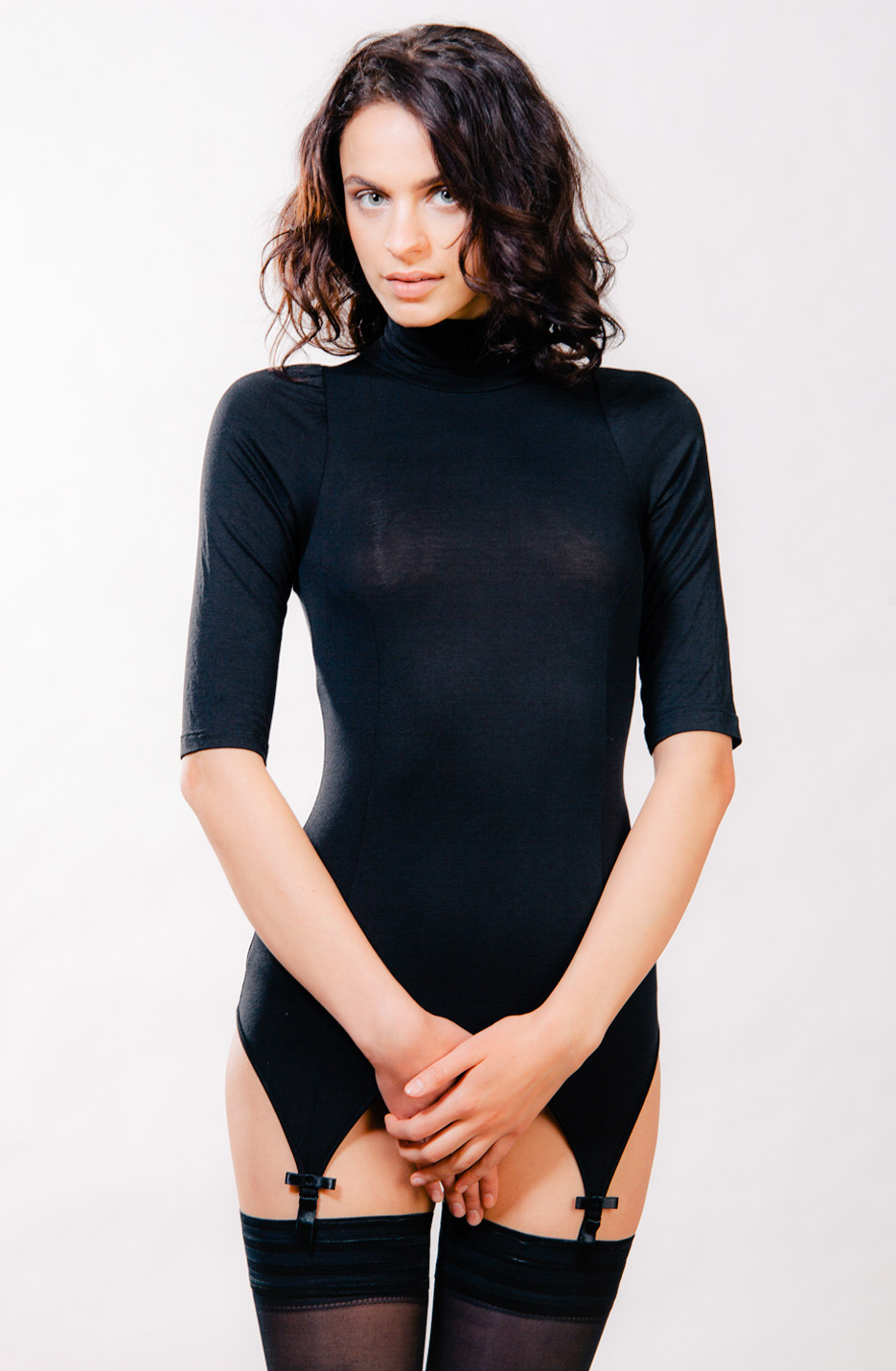 Kriss Soonik Kristel Suspender Top Turtleneck