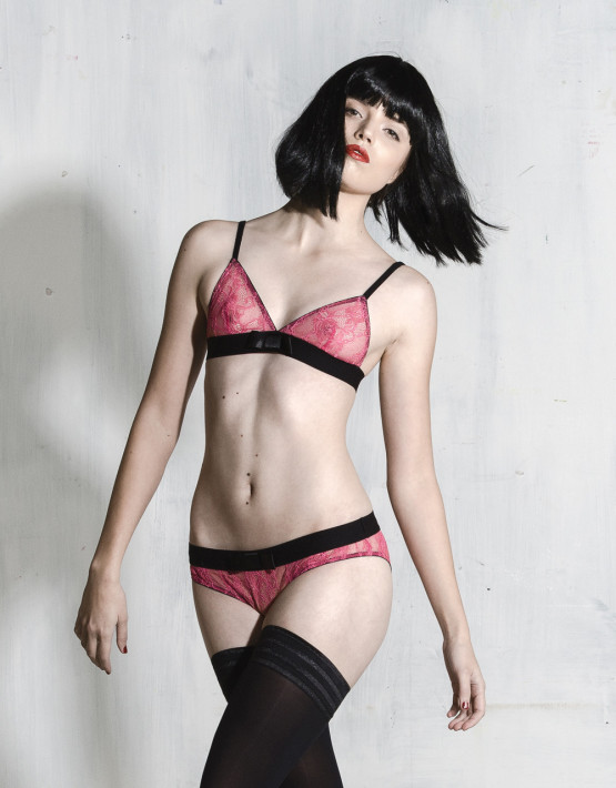 Kriss Soonik Maike Lace Knickers - Shocking Pink